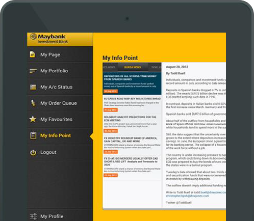 Stock Trading Application for MayBank Kim Eng Securities